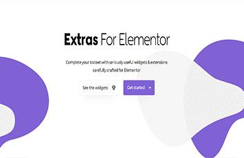 افزودنی extras elementor برای المنتور پرو